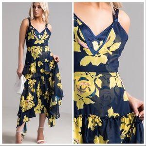 19e8bdfdfbc Caroline Floral Fields Hi Lo Maxi Dress